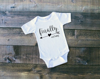 finally. bodysuit IVF bodysuit-  worth the wait shower gift baby shower gift