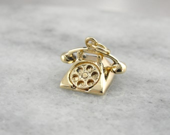 Hello, Is It Me You're Looking For? Vintage Rotary Phone Charm 2EU230-D