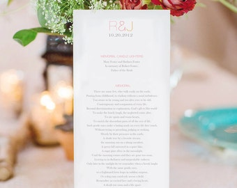 Modern Chic Wedding Programs, Elegant Ceremony Programs, Custom Wedding Ceremony Programs, Bridal Party Programs, Front/Back Printed, CUSTOM