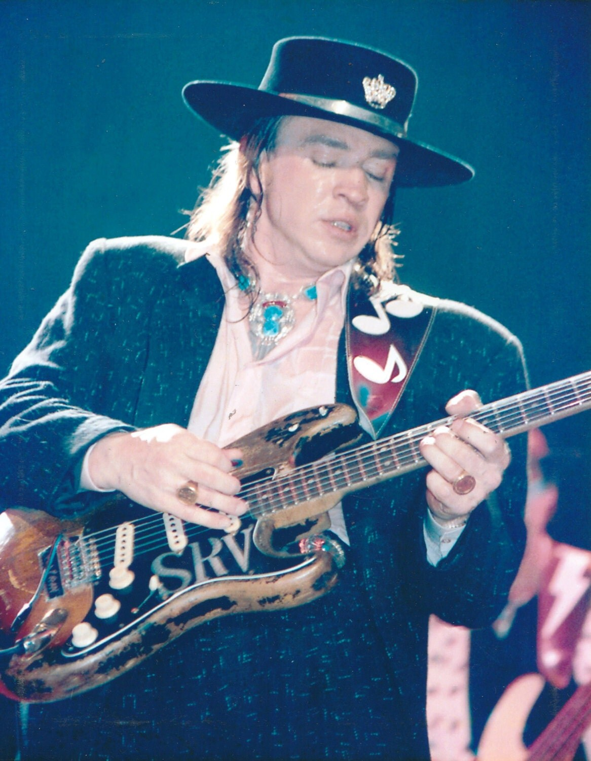 vintage stevie ray vaughan photo 1980 39 s live concert. Black Bedroom Furniture Sets. Home Design Ideas