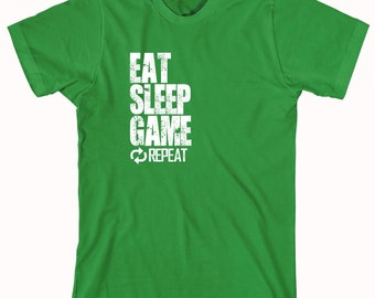 Eat Sleep Game Repeat Shirt, gamer, nerd, geek - ID: 829