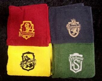 Hogwarts Houses Towels