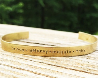 Personalized Brass Cuff