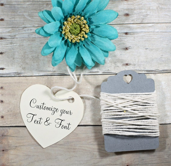 Wedding Favor Tags Heart Shaped : Tags Set of 20 - Cream Heart Tags - Bridal Shower Tags - Wedding Favor ...