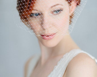 "Wedding Fascinator Birdcage - ""Sarah"""