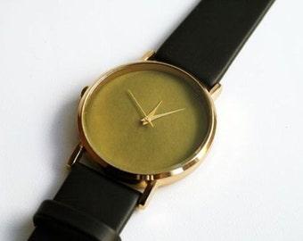 Olive Watch women watches Leather Watch Boyfriend Gift Custom Watch Boho Watch Gift for Him Birthday Gift Anniversary Gift Women Gift Gold