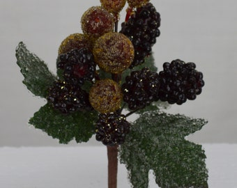Burgundy Iced Berry Cluster(lot of 2)