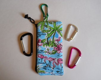 Zipped Cell Phone Purse with Carabiner, Clips to Belt Loop, Attitude Design Original