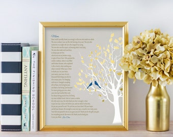 Gift For Mom How Can I Thank You Poem Wedding Day BIRTHDAY GIFT