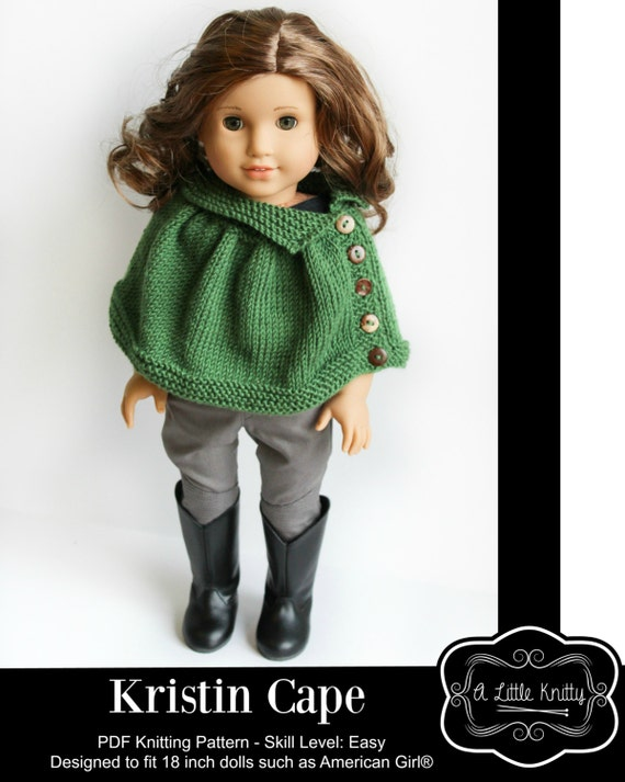 Pixie Faire A Little Knitty Kristin Cape Doll Clothes Knitting