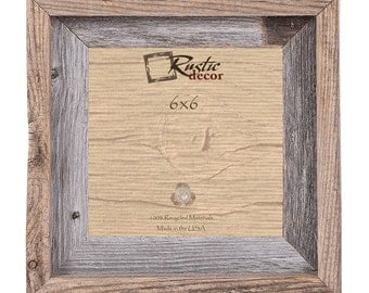 "6x6-2"" wide Rustic Barn Wood Signature Wall Frame"