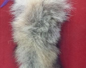Long Taxidermy Coyote Tail Key Chain Purse Charm!! fox/mink/bobcat/