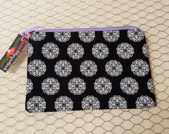 Zipper pouch, Small cosmetic bag, Pencil case