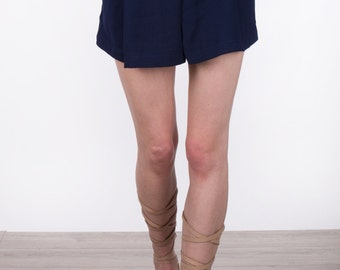 Navy Blue Crepe Short.