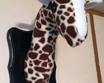 Stuffed Giraffe Head / Faux Taxidermy / Giraffe Decor / Valentine gifts