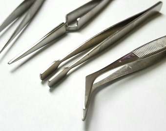 Jewellers Hobbyiest Stainless Steel 5pc Tweezer Set From