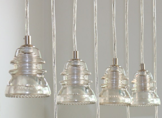 Insulator pendant light clear glass by creativememoriesplus for Insulator pendant light