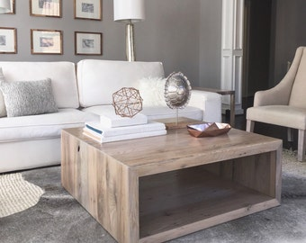 Salvaged Oak Square Coffee Table