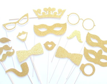 16Pc *Glitter Photo Booth Props/Bling Photobooth Props/Glitz Photobooth Props