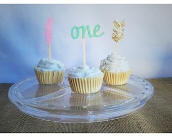 Aztec Boho cupcake topper, tribal cupcake topper, feather cupcake topper, arrow cupcake topper, boho cupcake topper, teepee, arrow, feather