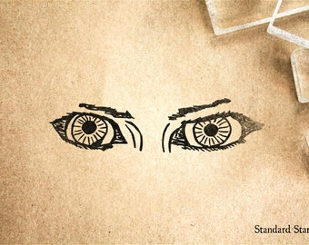 Beautiful Eyes Rubber Stamp - 3 x 1 inches