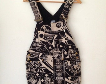 MOSCHINO Jeans Vintage 80s Dungarees Dress