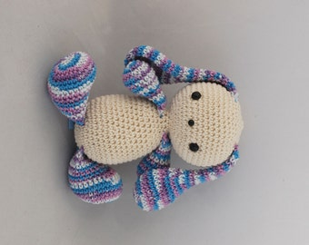 Amigurumi Little Bunny, Vanilla/Multicolor