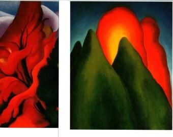 Set of 2 Unframed Georgia O'Keeffe Museum Prints