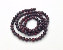 "Natural Poppy jasper round beads 4 mm 16"" 98 pieces strand semiprecious beads for DIY necklace, bracelet"
