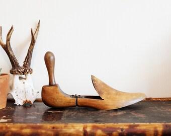 Victorian wooden shoe stretcher. Victorian Wooden Shoe Ornament Curiosity