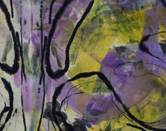 original painting on silk, Spring Equinox, 16x20, ready to hang