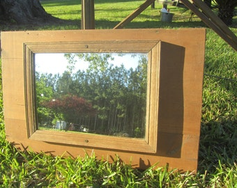 Farmhouse Mirror, Rustic Mirror, Wood mirror, Vintage Mirror, Reclaimed Door