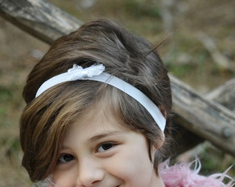 Color headband, white headbands, baby hairbows, infant headbands, baby photo props, petite hairbow, bow headband, Happy Bowtique, hairbow