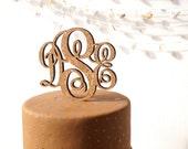 Rustic monogram cake topper, wedding cake topper, personalize custom cork and wood wedding cake topper, vineyard wedding decor