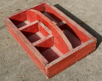 Vintage Wooden Caddy Box