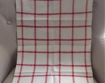 Vintage Linen Towel with Lace Edge