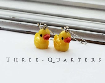 Earrings, duck, rubber duck, rubber duck, duck, yellow, bath, children, funny, kawaii, Miniblings