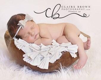 Choose from 3 colors - baby headband - newborn headband - glitter bow - Baby headbands - Newborn headband - Infant headband