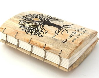 Rustic Wedding | Wood Guest Book |Tree of Life | Bridal Shower guestbook | Sign in Book | guest book | wedding guest book alternative