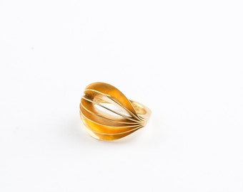 Gold coral shape ring, gold plated ring, size 7 gold ring, unique ring, statement ring, 18k gold plated, gold ring for women, gift for her
