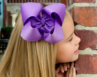 Purple XL Hair Bow, Extra Large Hair Bow, Purple Hairbow, Boutique Hair Bow, Purple Bow, Purple Hair Clip, Purple Hair Bow, Big Bows