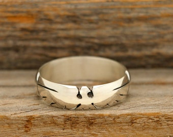 Hand Carved Thunderbird Ring in Silver