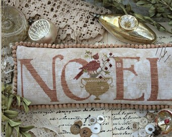 Pattern: Merry Noel Cross Stitch Pincushion - Country Stitches - With Thy Needle and Thread - Brenda Gervais