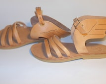 hermes leather wing sandals men