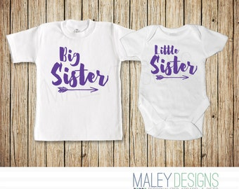 Big Sister And Little Sister Matching Outfits, Sister Shirts, Matching Sister Outfits, Little Sister Big Sister, Arrow Shirt, Set of Two