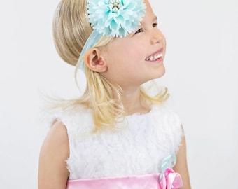 Baby Headband, infant headband, flower headband, baby girl accessories, baby shower gift, baby headbands, pink headbands, newborn photo prop