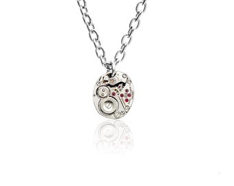 Watch Movement Pendant on Sterling Silver chain - 'Lady Anne' (Small)