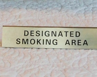 Smoking Sign Designated Smoking Area Vintage Both Sides