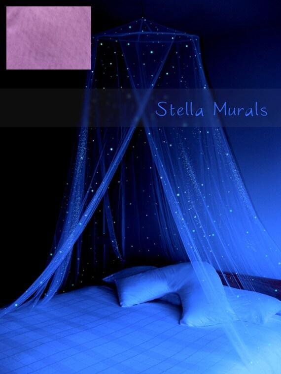 Glow In The Dark Stella Murals Star Canopy Mauve Starlight