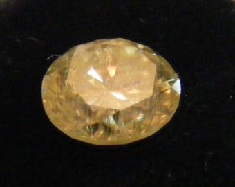 YELLOW  2.04ct round brilliant cut moissanite 8.15MM  DIAMOND